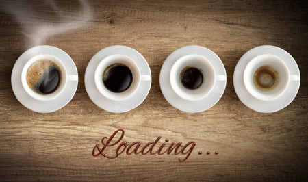hedonism: Cup of coffee - morning loading concept