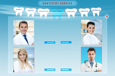 dental web site template photo