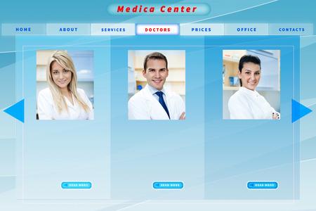 Blue medical business website template photo