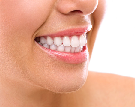 dentition: amazing smiling with perfect teeth