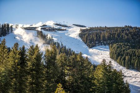 slope: Ski slope on beautiful snowy mountain
