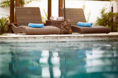 Swimming pool, Bali style, Thailand
