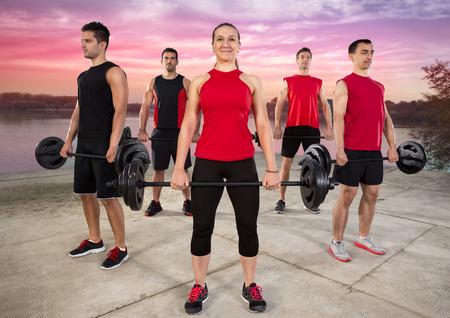 body pump: Outdoor class of body pump