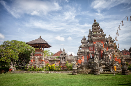 places of interest: royal temple famous places of interest in Bali. Stock Photo