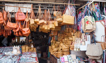 Souvenirs of Bali at the Ubud Market Stock Photo