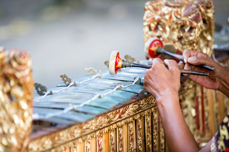 indonesia culture: Traditional Balinese music instrument gamelan