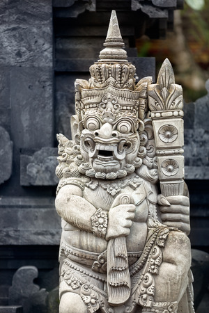 Religious sculpture in temple Bali, Indonesia