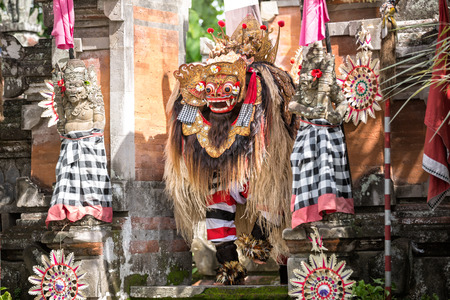 Traditional barong dance performance in Bali, Indonesia Stock Photo