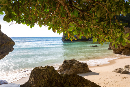 secluded: A tropical secluded beach in Philippines