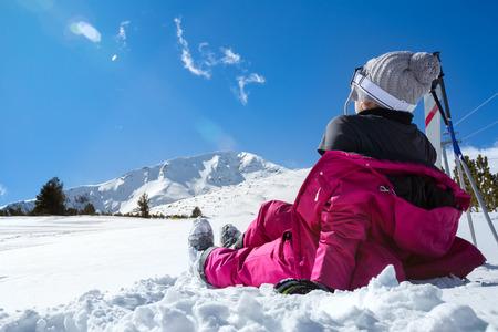 winter clothing: girl enjoying wintertime nature, active lifestyle