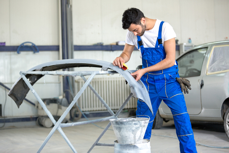 polishing bumper for paint job with sandpaper