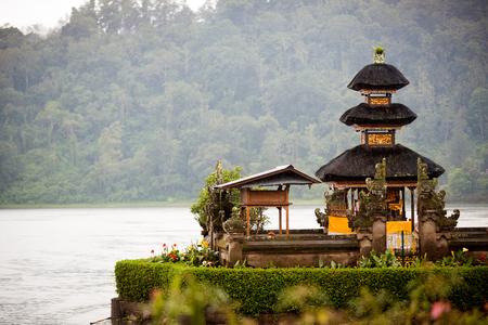 bratan: traditional Hindu temple Bratan on Indonesia Stock Photo