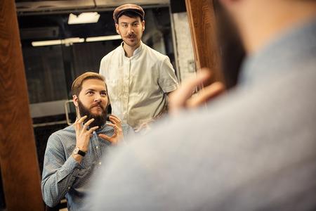 barbershop: Real man grooming at barbershop