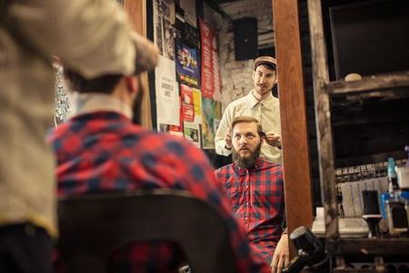hair saloon: time for new haircut at hair saloon