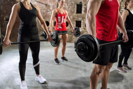 pesas: culturistas musculares del torso de entrenamiento con pesas