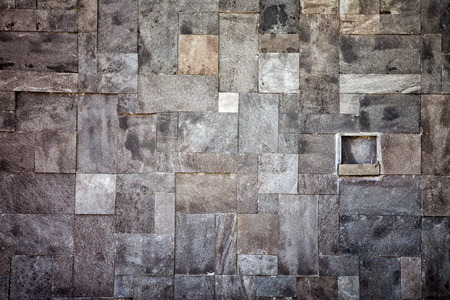 irregularity: Wall made of stone in the mosaic Stock Photo