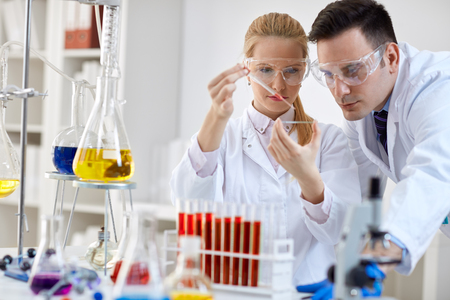 medical laboratory: Medical researcher microbiology experiment in the laboratory Stock Photo