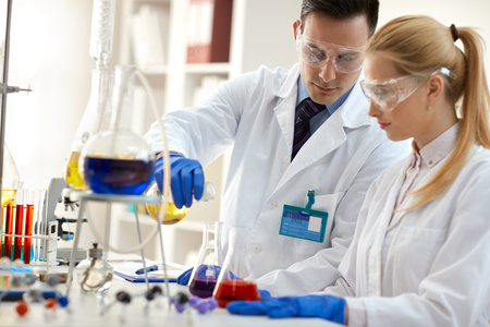 medical laboratory: Team of scientists in laboratory - medical research