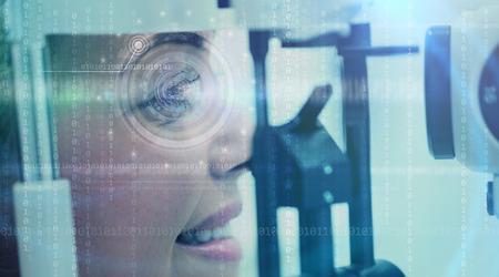 woman close up: Close up of woman eye  digital scan