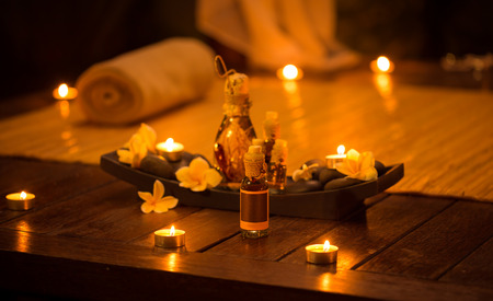 Decoration for relax massage with aromatic oils