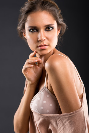 naked sexy women: Portrait of nature beauty, nice young beautiful girl