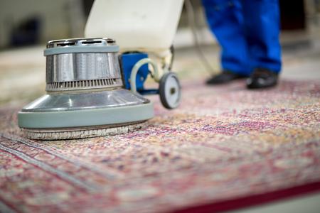 Electrical vacuum cleaner wash Archivio Fotografico
