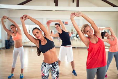 limbering: Limbering for exercises in fitness center