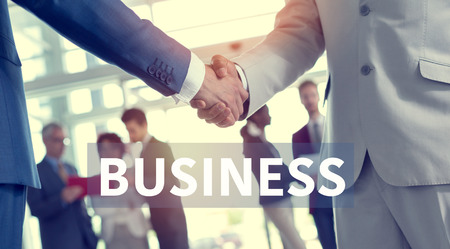 business partners: Close up of handshake of business partners Stock Photo