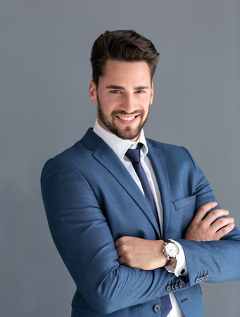Studio portrait of handsome male model