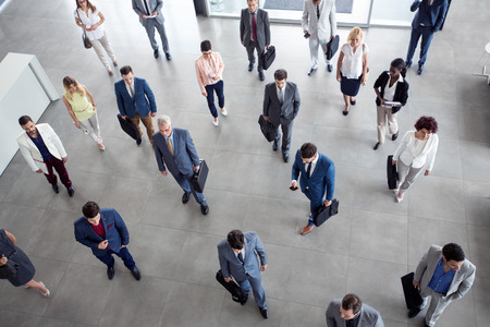 network people: multiethnic business people in the suit going on business meeting in the company