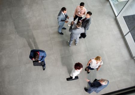 network people: group of colleagues talking on business meeting in the company Stock Photo