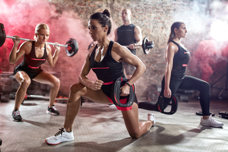 body pump: Active people on  class of body pump