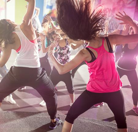 group of people at urban dance class in studio 写真素材