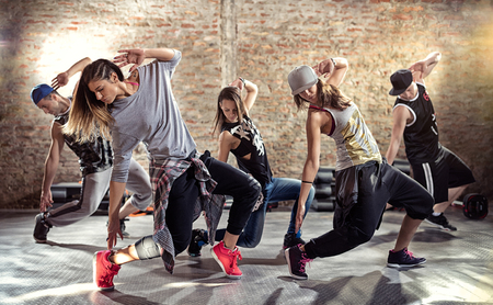 danse Cardio musculation entraînement Banque d'images - 63997684