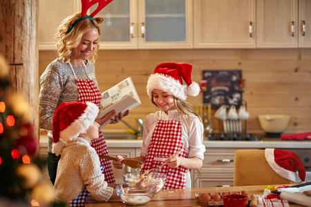 christmas time: Family time- making Christmas cookies at home