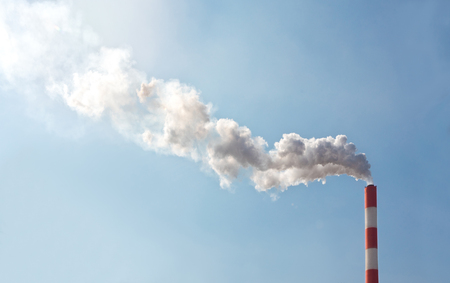 globalwarming: Air pollution with smoke from chimney