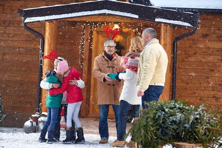 christmas tree presents: Family holiday- family gathering on Christmas eve