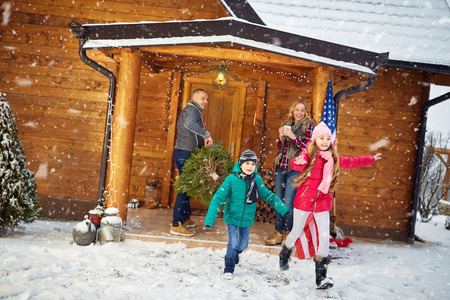 pappy: Christmas holiday in home- family vacation Stock Photo