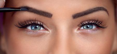 schöne augen: Augen, Nahaufnahme der schönen Frau mit Make-up Augen
