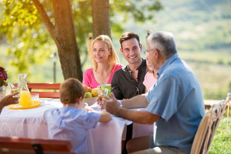 Happy family having fun outdoor Zdjęcie Seryjne