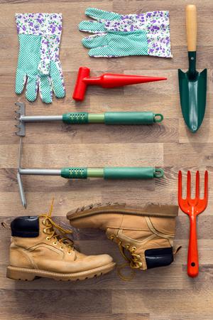 preparation garden tools background
