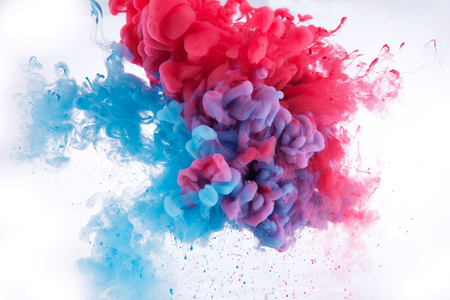 colorful ink in water background Stock Photo