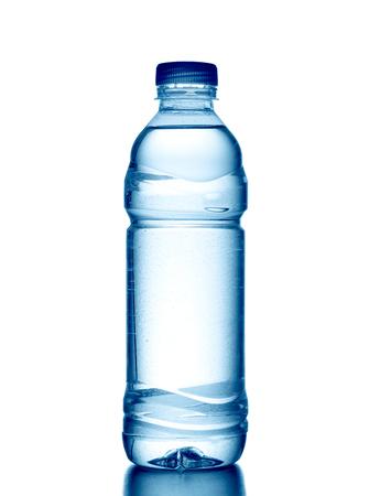 Bottle of fresh water isolated on white background