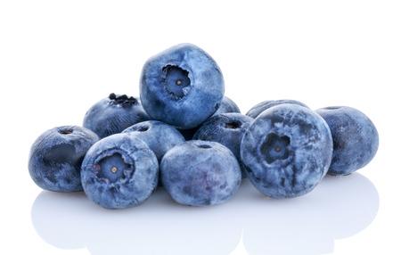 fresh organic blueberry isolated on white background Stock Photo