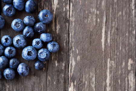 fresh fruits blueberries background copy space