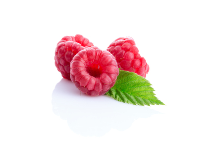tasty raspberry isolated on white background