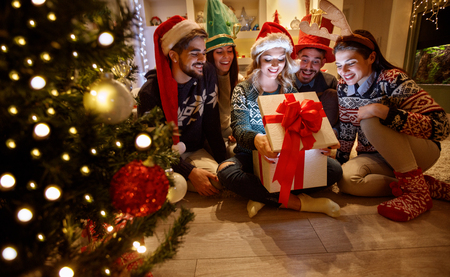 Magic Christmas- surprise in box for group young friends