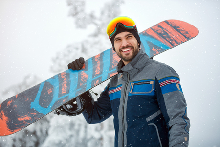 portrait of cool young Snowboarder Banque d'images