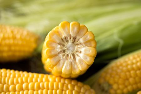 Fresh corn natural healthy food -close up  Stock Photo
