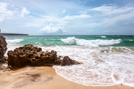 Summer day on beautiful empty beach Reklamní fotografie